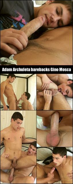Adam gives his hung and uncut cock to Gino | Daily Dudes @ Dude Dump