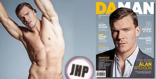 Alan Ritchson cover boy for DaMan | Daily Dudes @ Dude Dump