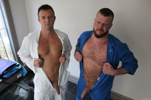 Amateurs Do It – Andrew & Mark Massive Aussie Tops | Daily Dudes @ Dude Dump