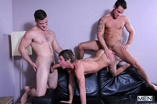 Angel Rock & Cooper Reed tag-team Johnny Rapid | Daily Dudes @ Dude Dump