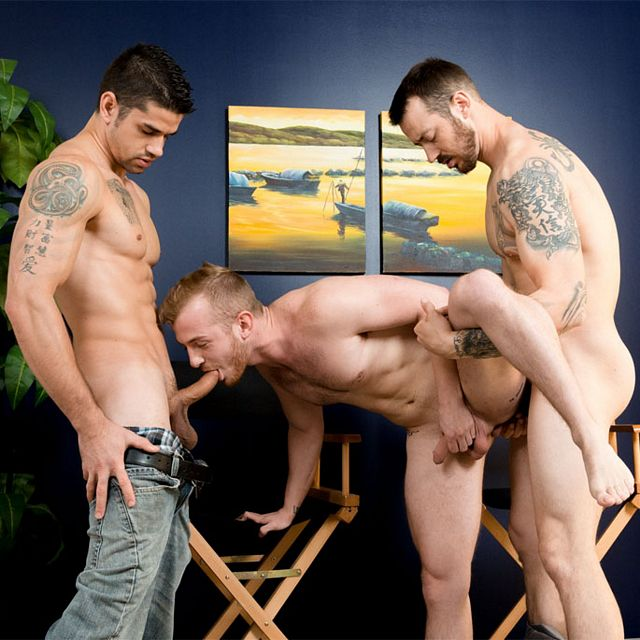 Archer Hart takes two cocks | Daily Dudes @ Dude Dump