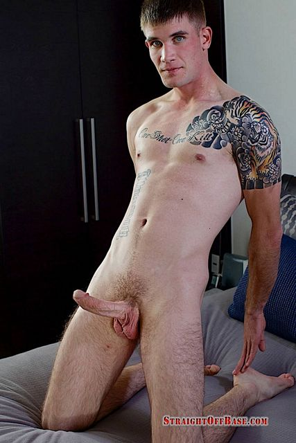 Army cock stroking with horny dude Sergeant Brady | Daily Dudes @ Dude Dump