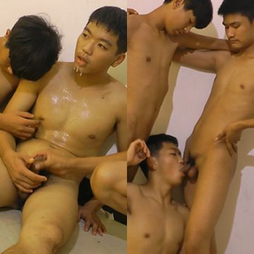 Asian Boyz Threesome Blowjobs | Daily Dudes @ Dude Dump