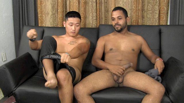 Asian Guy Suck First Black Cock | Daily Dudes @ Dude Dump