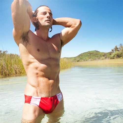 Aussie in Red Speedos | Daily Dudes @ Dude Dump