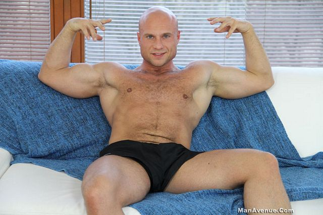 Bald Muscle Guy, Bruce Ford Jerks His Big Dick | Daily Dudes @ Dude Dump