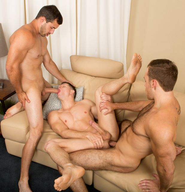 Bareback threeway with Randy, Cory and Dean! | Daily Dudes @ Dude Dump