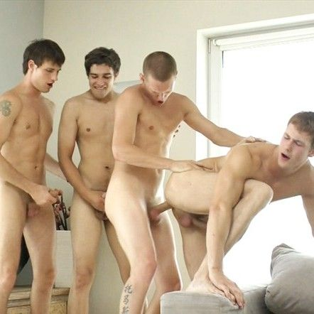 Barebacked by 3 Huge Cocks | Daily Dudes @ Dude Dump