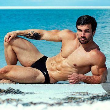 Beefcake — Jake B. at the beach | Daily Dudes @ Dude Dump