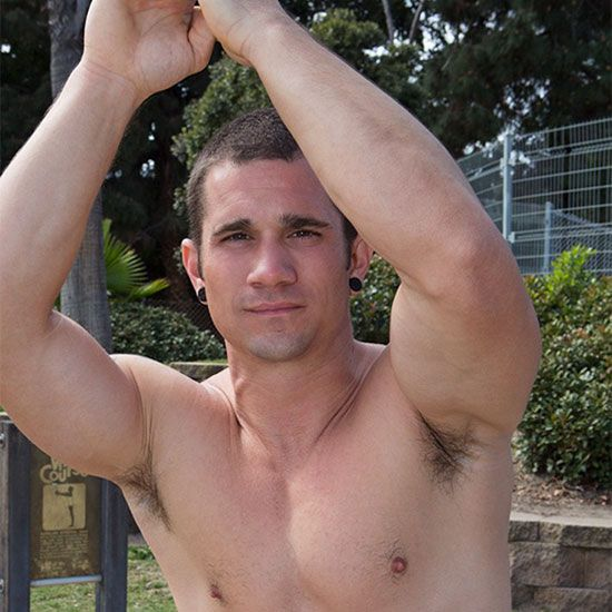 Beefy muscle stud Neil solo | Daily Dudes @ Dude Dump