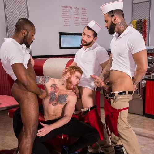 Bennett Anthony Services Three Big Dicks | Daily Dudes @ Dude Dump
