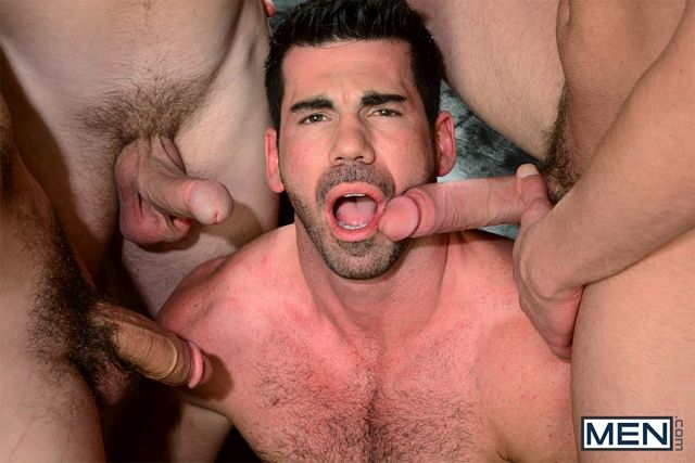 Billy Santoro gets gang-banged | Daily Dudes @ Dude Dump