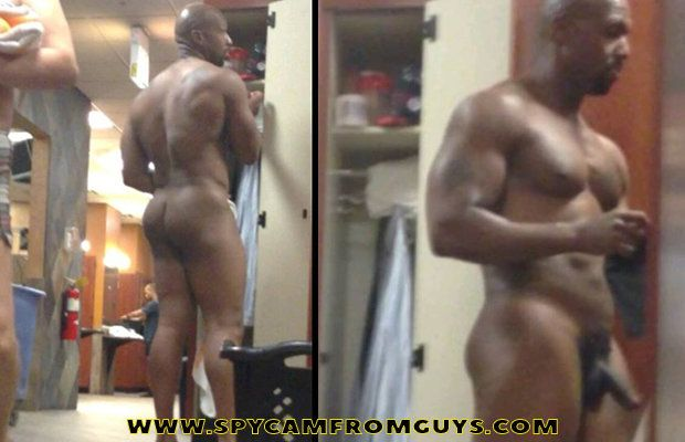 Black hung man caught naked in lockerroom | Daily Dudes @ Dude Dump