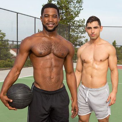 Black stud Landon barebacks Cassian | Daily Dudes @ Dude Dump