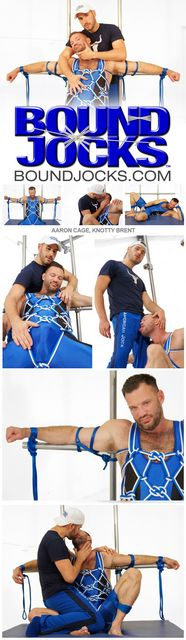 Bound Jocks: AARON CAGE & KNOTTY BRENT   Daily Dudes @ Dude Dump