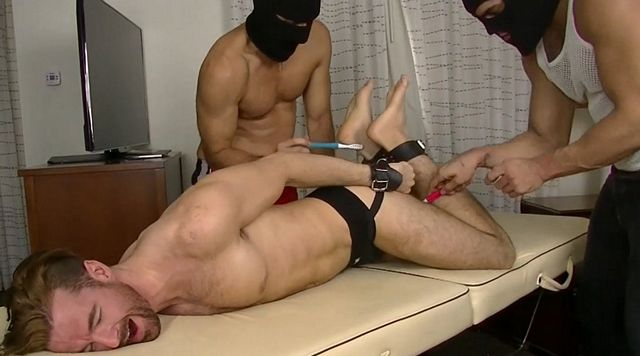 Brendan Tickle Tortured by Two Intruders | Daily Dudes @ Dude Dump