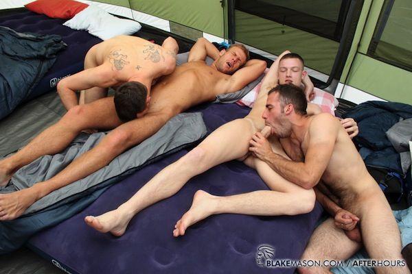 British guys sucking uncut cocks in the tent | Daily Dudes @ Dude Dump