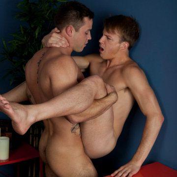Caleb taps Skylar's ass | Daily Dudes @ Dude Dump