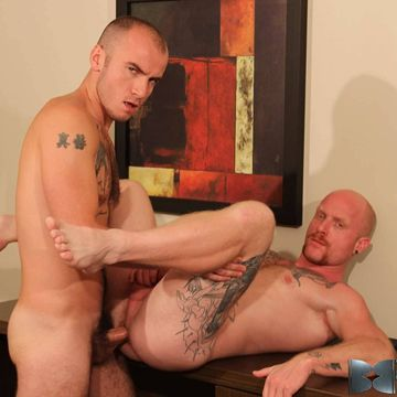 Cam Christou & Brock Rustin in a gay bareback fuck | Daily Dudes @ Dude Dump