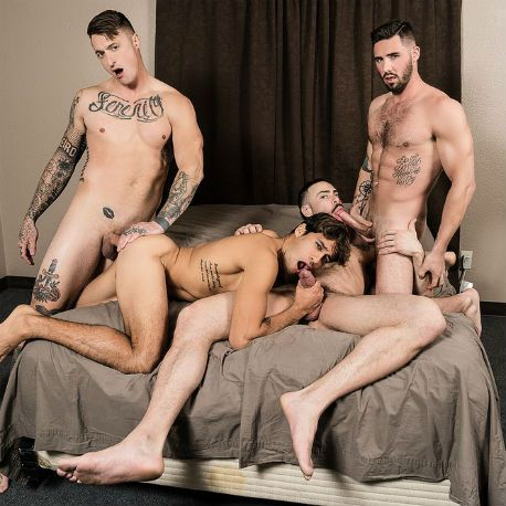 Carlos Lindo, Titus, Dane Stuwart and Blaze Burton | Daily Dudes @ Dude Dump