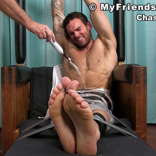 Chase Lachance Bound and Tickled | Daily Dudes @ Dude Dump