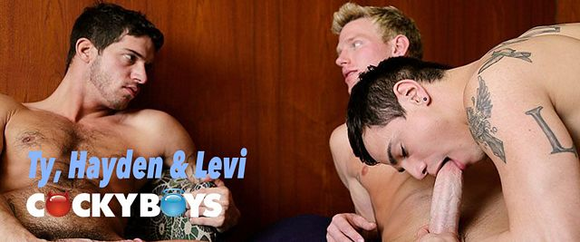 CockyBoys Ty Roderick, Hayden Lourd & Levi Karter | Daily Dudes @ Dude Dump