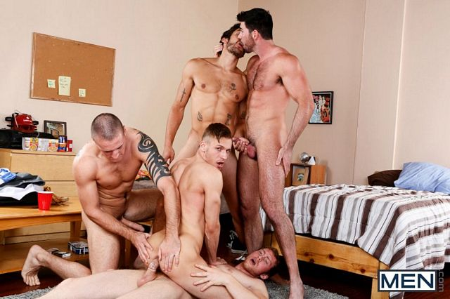Colden Armstrong gets gang-banged | Daily Dudes @ Dude Dump