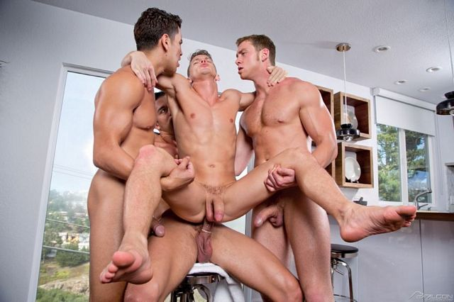 Connor and Ryan double-fuck Darius Ferdynand | Daily Dudes @ Dude Dump
