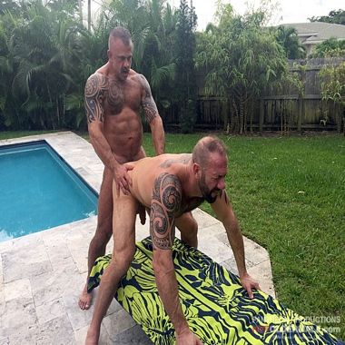 Daddies Fucking In The Back Yard | Daily Dudes @ Dude Dump