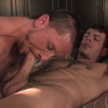 Dakota swallows Jesse's dick   Daily Dudes @ Dude Dump