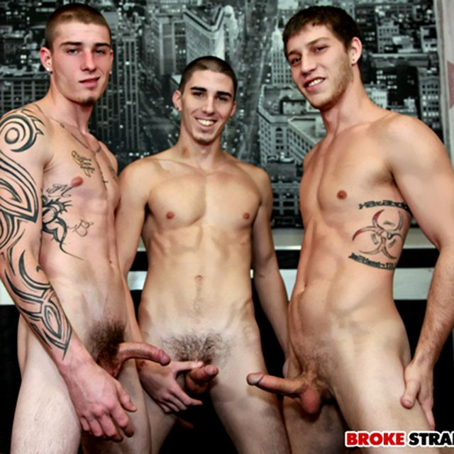 Damien Kyle, Paul Cannon and Cage in Horny Threewa | Daily Dudes @ Dude Dump