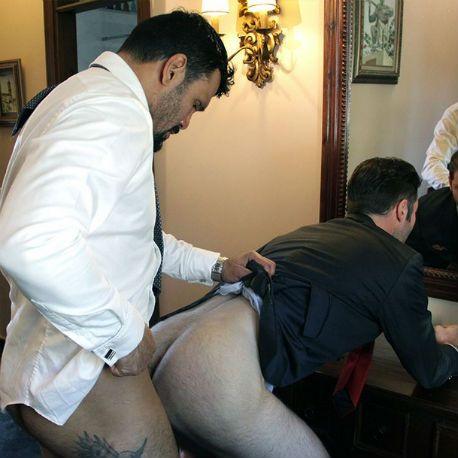 Dario Beck helps Jean Franko with his tie | Daily Dudes @ Dude Dump