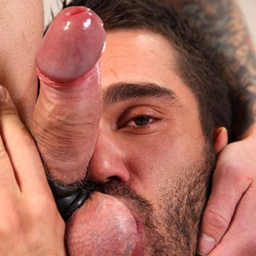 Double Penetrated with Cock & Dildo | Daily Dudes @ Dude Dump