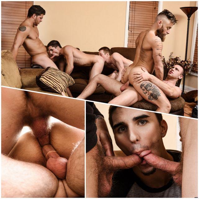 Double Penetration Orgy | Daily Dudes @ Dude Dump
