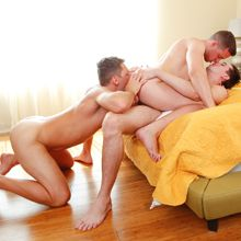 DP action in a jock threesome fuck scene! | Daily Dudes @ Dude Dump