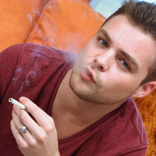 Dustin Fitch, Horny Twink Smoking While Jerking | Daily Dudes @ Dude Dump