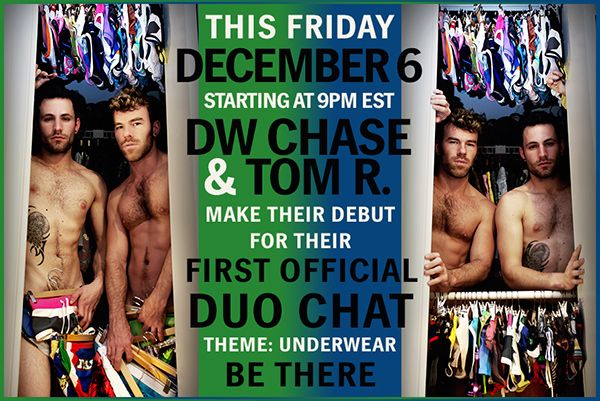 DW Chase And Tom R Duo Camshows On CamWithHim | Daily Dudes @ Dude Dump