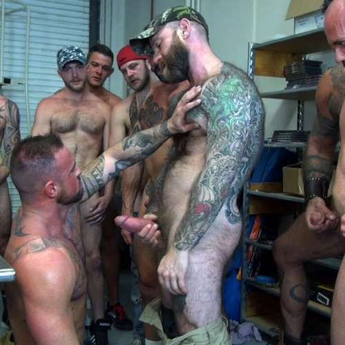 Eight Hung Studs Fuck Michael Roman Raw | Daily Dudes @ Dude Dump
