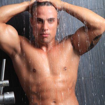 Eric's throbbing shower shoot | Daily Dudes @ Dude Dump