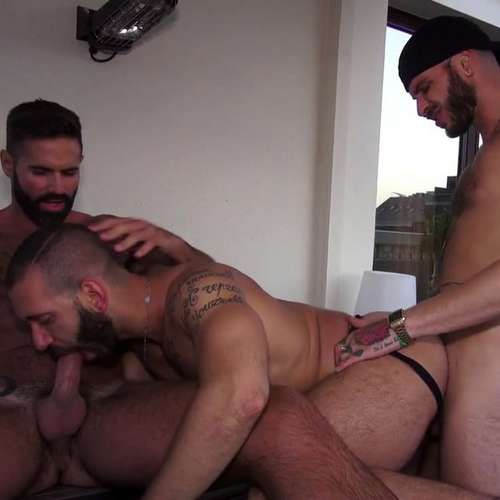 Fabio and Dani Robles Breed Italo Hard at ERIC RAW | Daily Dudes @ Dude Dump