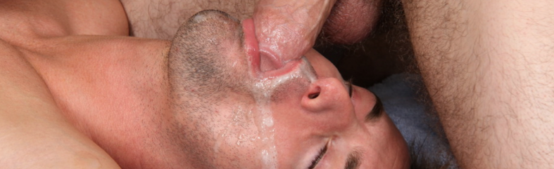 Feeding my straight mate my cum load in a shoot | Daily Dudes @ Dude Dump