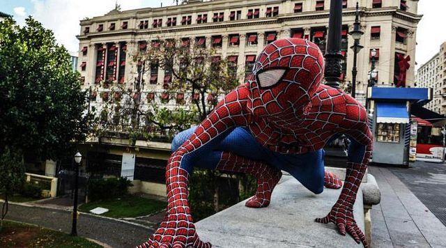 "Felipe Carning As ""Spiderman""   Daily Dudes @ Dude Dump"