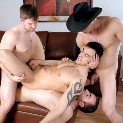Felix Brazeau gets double fucked | Daily Dudes @ Dude Dump