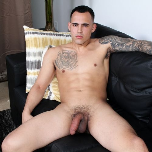 Fernando, Young Recruit Strokes His Big Dick | Daily Dudes @ Dude Dump