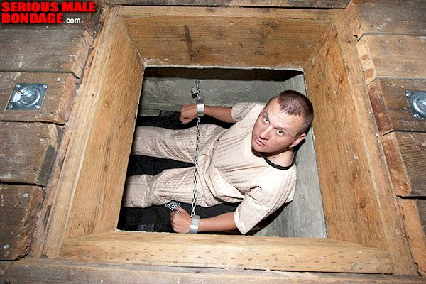 Fetishist chained under the floor | Daily Dudes @ Dude Dump