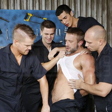 Five horny colleagues in an orgy | Daily Dudes @ Dude Dump