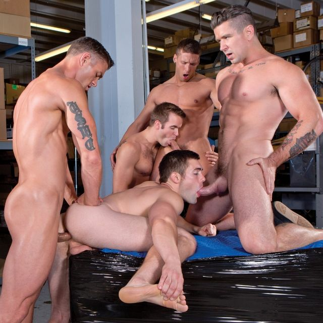 Five Hot Men Doing Gay Orgy in Urban Spokes | Daily Dudes @ Dude Dump