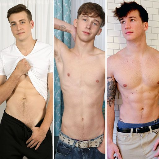 Five hot newcomers jerk off | Daily Dudes @ Dude Dump