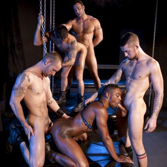 Five man orgy @ Raging Stallion | Daily Dudes @ Dude Dump