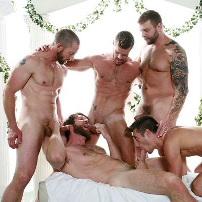 Five Men Orgy in Roman Court Costume | Daily Dudes @ Dude Dump